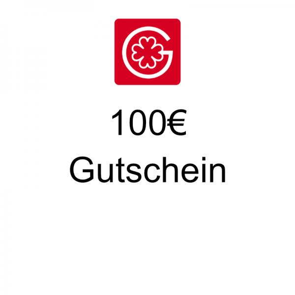 100€ Gutschein - einlösbar innerhalb von 12 Monaten in unserem Shop