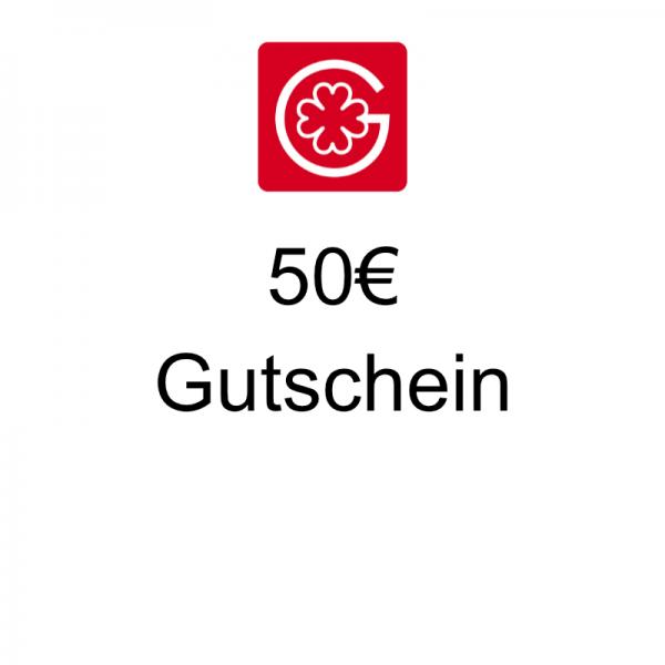 50€ Gutschein - einlösbar innerhalb von 12 Monaten in unserem Shop